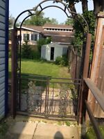 Garden arbour with gate