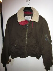 MENS BENETTON BOMBER AVIATOR JACKET MADE IN ITALY SIZE L