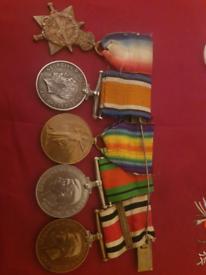 Set of 5 WW1 Medals