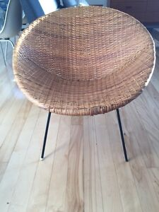 Vintage wicker cane chair