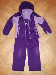 Girls 2 piece Purple Snowsuit