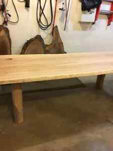 "7' x 2"" thick live edge cherry harvest table London Ontario image 2"