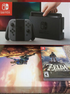 Nintendo Switch w/ Zelda and Walkthrough