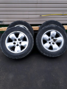 20 inch dodge ram rims with an extra set of tires.
