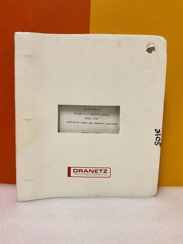 Dranetz Model 3105 Precision Power and Harmonic Analyzer Service Manual