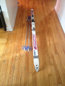 Ski de fond et bâton