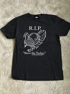 Steve the turkey tshirt. Large