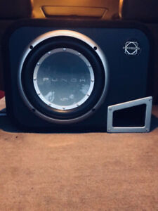"10"" Subwoofer with Amplifier in a Ported Enclosure"