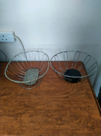 Two wire baskets - both for £4