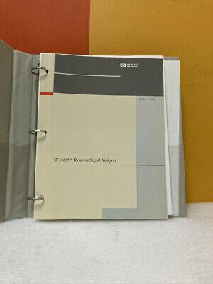 Hp 35665a Dynamic Signal Analyzer Operators Guide