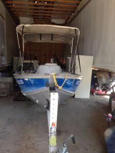 Price dropped. 14 fooborcraft Aluminum Boat & Ez loader Trailer
