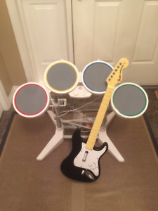 Rockband drums and guitar for Wii