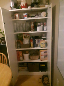 Huge unit with 3 adjustable shelves and lock
