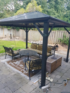 10 x 12  hard top Gazebo with Curtains