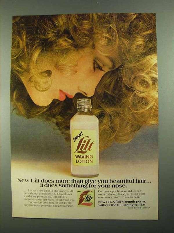 1981 Lilt Waving Lotion Ad - More Than Beautiful Hair