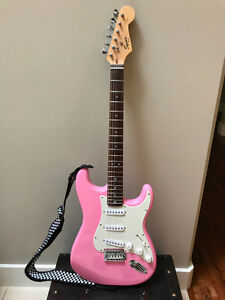 Squier by Fender Strat Beginner Electric Guitar - Pink