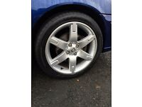 MG Rover 4x100 Addendum 17'' alloy wheels and tyres