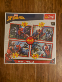 Spiderman 4 in 1 jigsaw puzzle