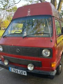 ea8a02bf3a2200 VW t25 high top camper mot 1985