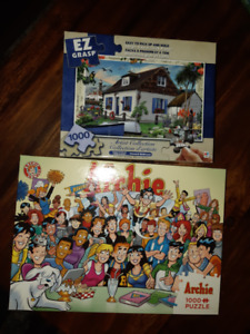 Puzzles, no pieces missing, smoke free home, good quality.