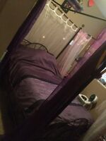 Double bed & frame