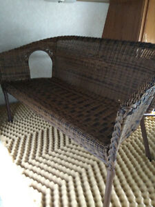Pending Sale Wicker Resin Patio Set and Cushions Peir One