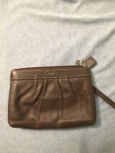 Brown leather Coach wrislet
