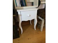 Shabby chic bedside table with drawer