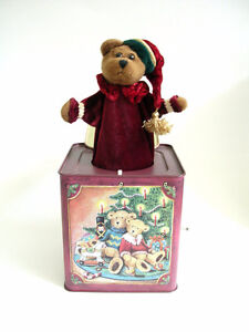 Vintage Russ Christmas Teddy Bear Jack in the Box Kitchener / Waterloo Kitchener Area image 1
