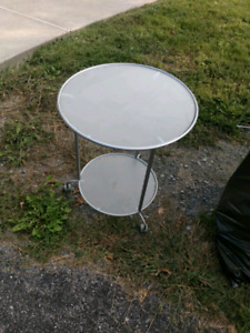 Ikea frosted glass side/end table