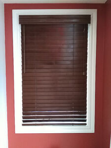 Wood Blinds - 6 sets (1 Picture Window...) Mint Cond. (3yrs old)
