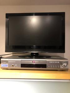 """TV écran plat 19"""" et lecteur DVD Samsung"""