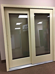 GOLDEN WINDOWS ALUMINUM CLAD WIDE-RAIL PATIO DOOR IN ALMOND London Ontario image 1