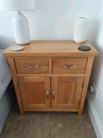 Solid oak sideboard cabinet