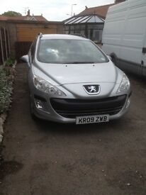 2009 Peugeot 308 SW £2150 (Cars in Rhyl North Wales)