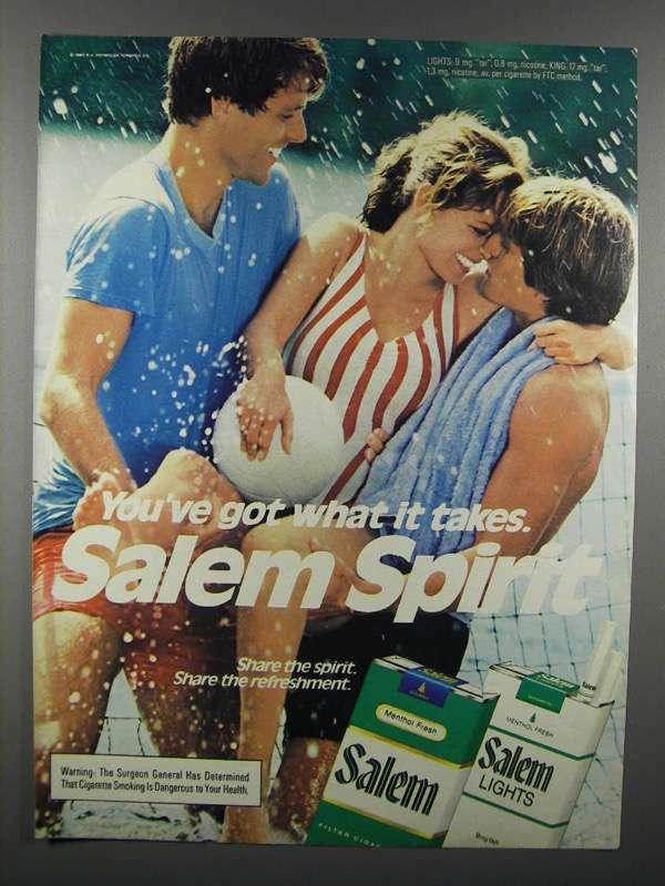 1983 Salem Cigarette Ad - Salem Spirit
