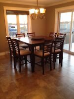 HIGH TOP KITCHEN TABLE (seats 8)
