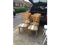 Hard wood solid chairs