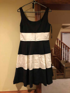 WORN ONCE Black and White Stripped Ralph Lauren Dress