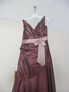 Beautiful Satin Bronze Color(metalic brown) Graduation Dress