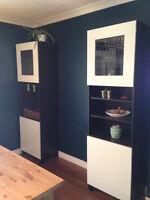 Two BESTA IKEA cabinets