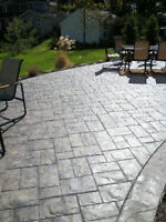 Stamped concrete, retaining walls,  concrete footings floors