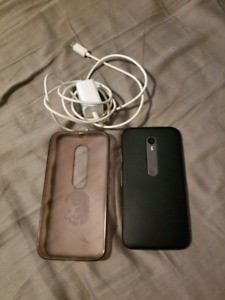 Moto G3 With Gel Case + Charger