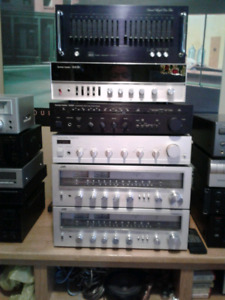 LOTS OF RECEIVERS AND  CD PLAYERS