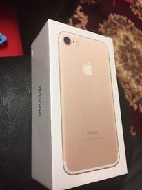Iphone 7 128gb gold brand new