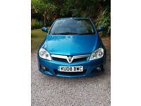 Antigua Blue Vauxhall Tigra Convertible 1.8