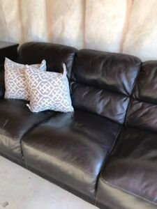 Dark Brown Full Leather Couch