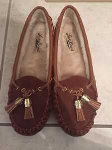 New Lucky Brand Moccasins brown with tassels