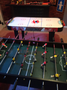 baby foot soccer sur table et air hockey