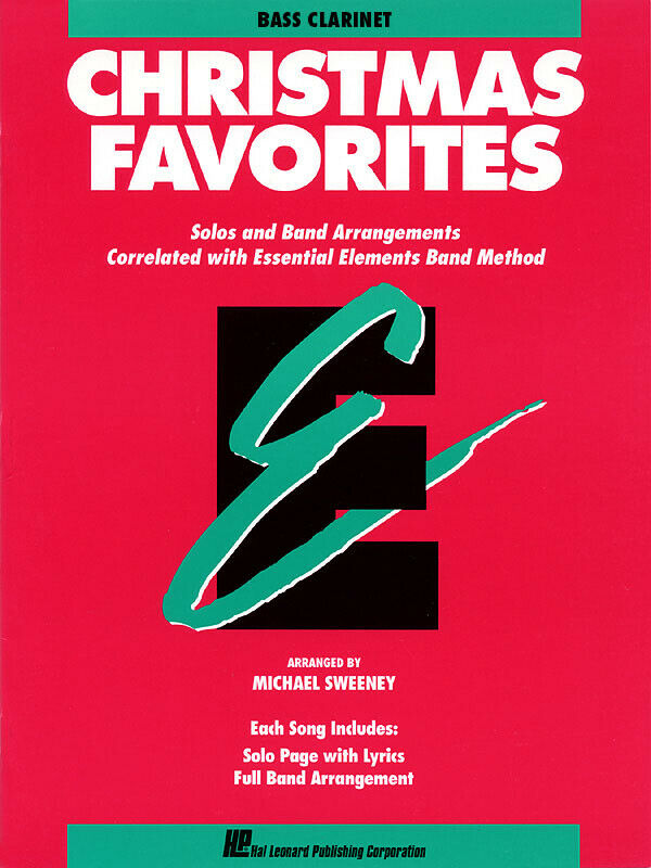 Christmas Favorites Bb Bass Clarinet Solo Essential Elements Band Method Book